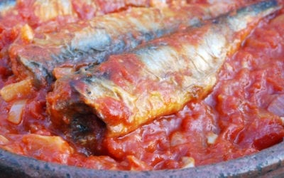 SARDINES in TOMATO, CAPERS & OLIVES