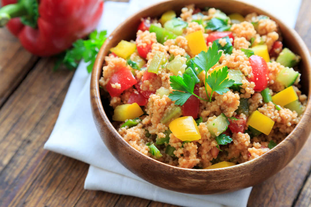 MORROCAN RAINBOW COUSCOUS with CHICKPEAS