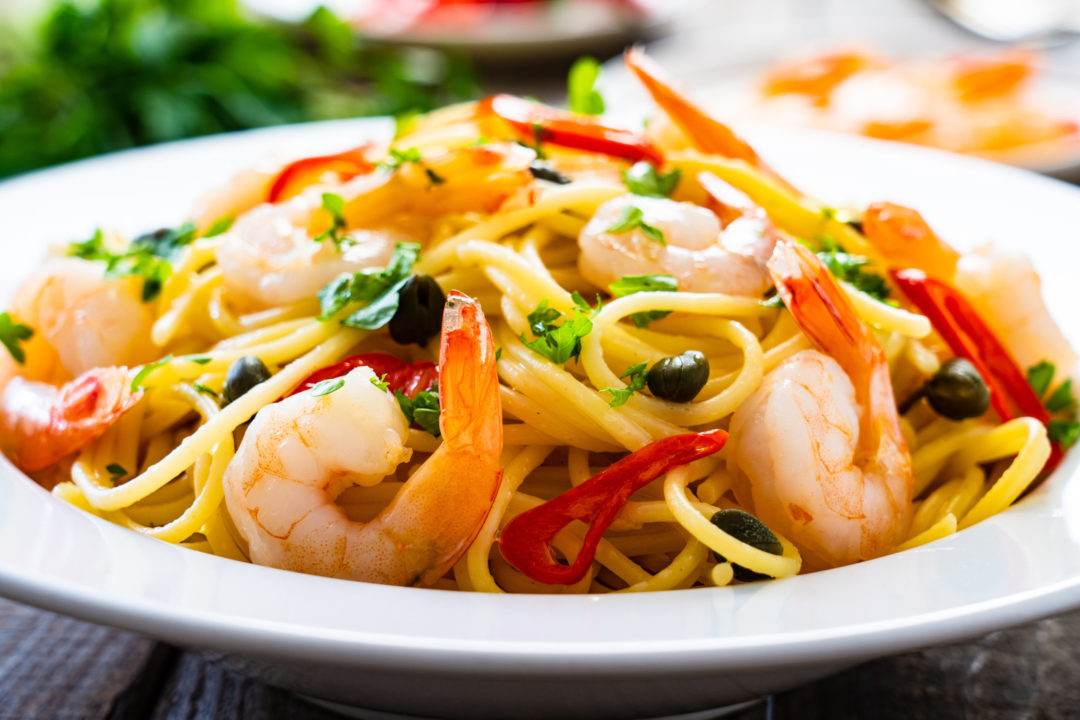 SINGAPORE STYLE PRAWN NOODLES