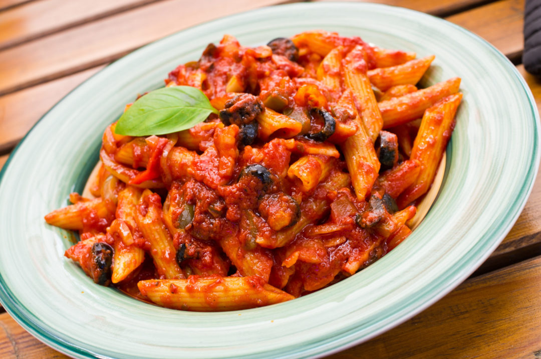 PENNE ARRABBIATA with AUBERGINE