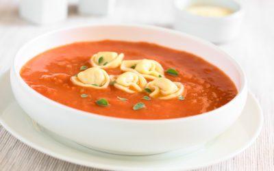 TOMATO SOUP with OREGANO & TORTELLONI