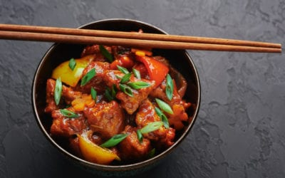 EASY CHICKEN CURRY with BELL PEPPERS